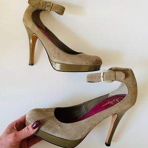 Cole Haan Nike Air Suede Ankle Strap High Heels